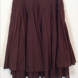 Anthropologie Fei brown cotton circle skirt 2